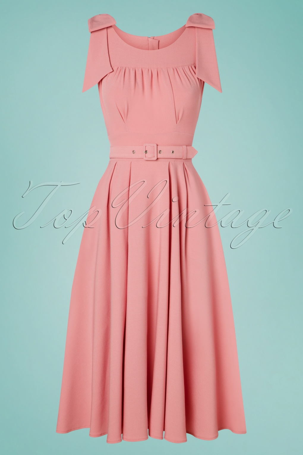 500 Vintage Style Dresses for Sale | Vintage Inspired Dresses 50s Gia Nina Dress in Rose Pink £100.85 AT vintagedancer.com
