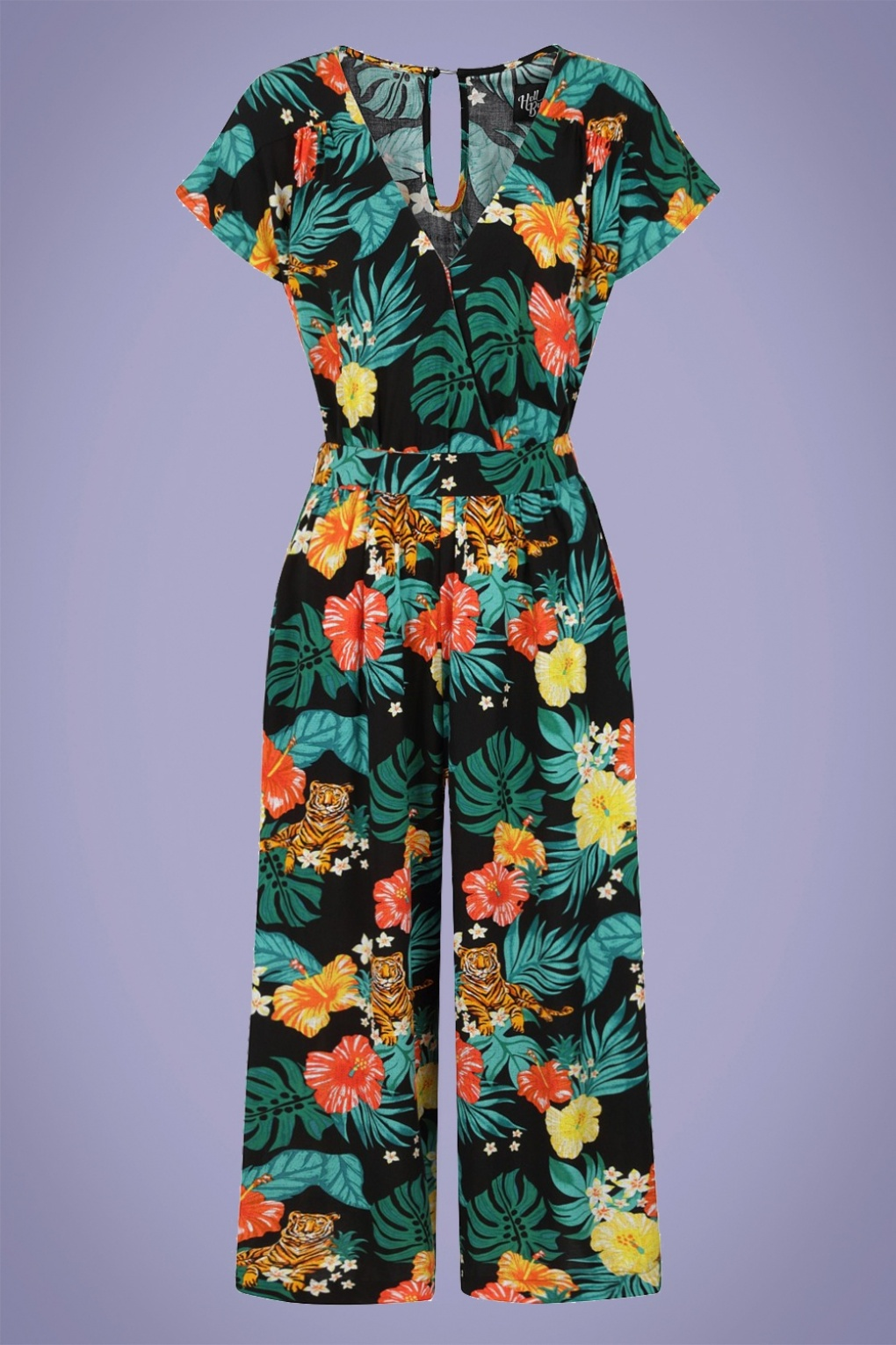 Vintage Rompers, Playsuits | Retro, Pin Up, Rockabilly Playsuits 70s Bali Jumpsuit in Black £54.59 AT vintagedancer.com