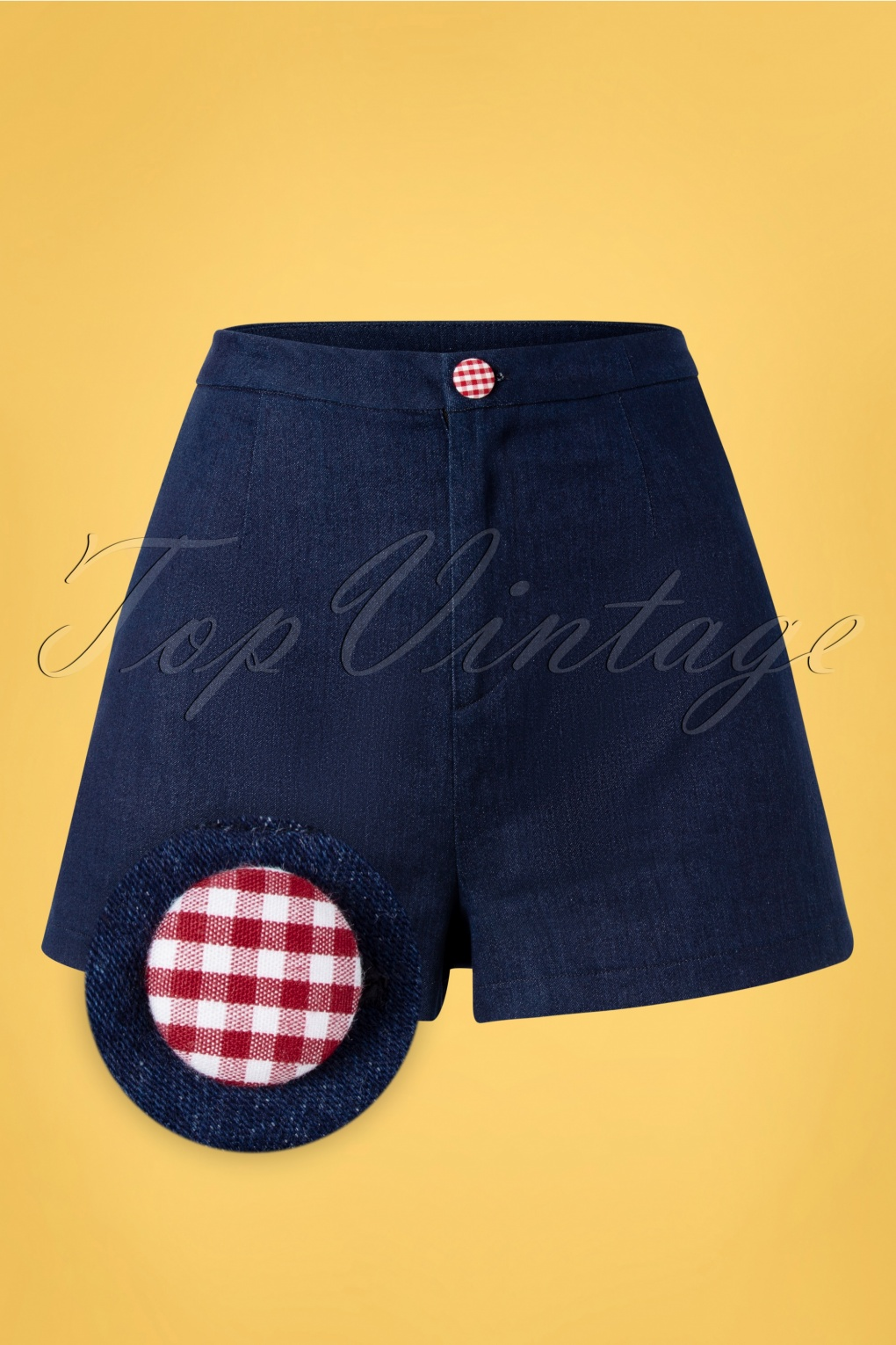 1950s Pinup Shorts, Retro Shorts 50s Diner Days Shorts in Dark Blue £23.10 AT vintagedancer.com