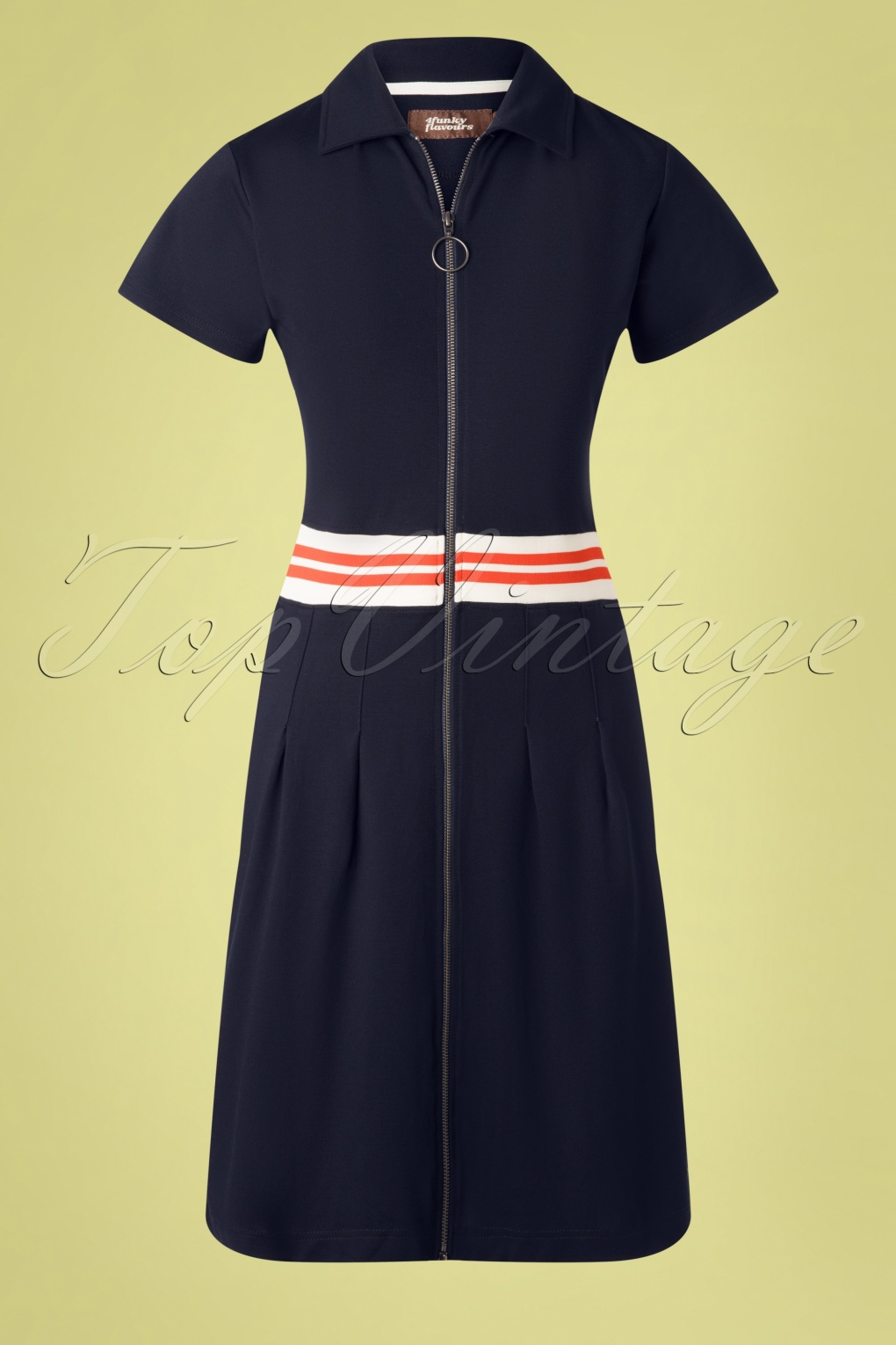 60s Dresses | 1960s Dresses Mod, Mini, Hippie 60s Formula Of Love Dress in Midnight Blue £87.81 AT vintagedancer.com
