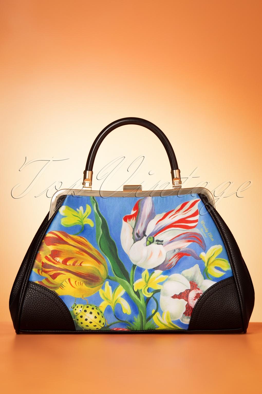 Vintage Handbags, Purses, Bags *New* 50s Ladybug Handbag in Blue £24.95 AT vintagedancer.com