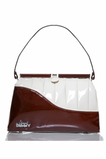 Brown and White Handbag website 9