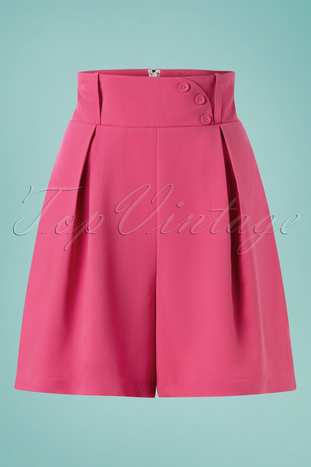 1950s Pants History for Women 50s Paris Shorts in Pink £31.46 AT vintagedancer.com