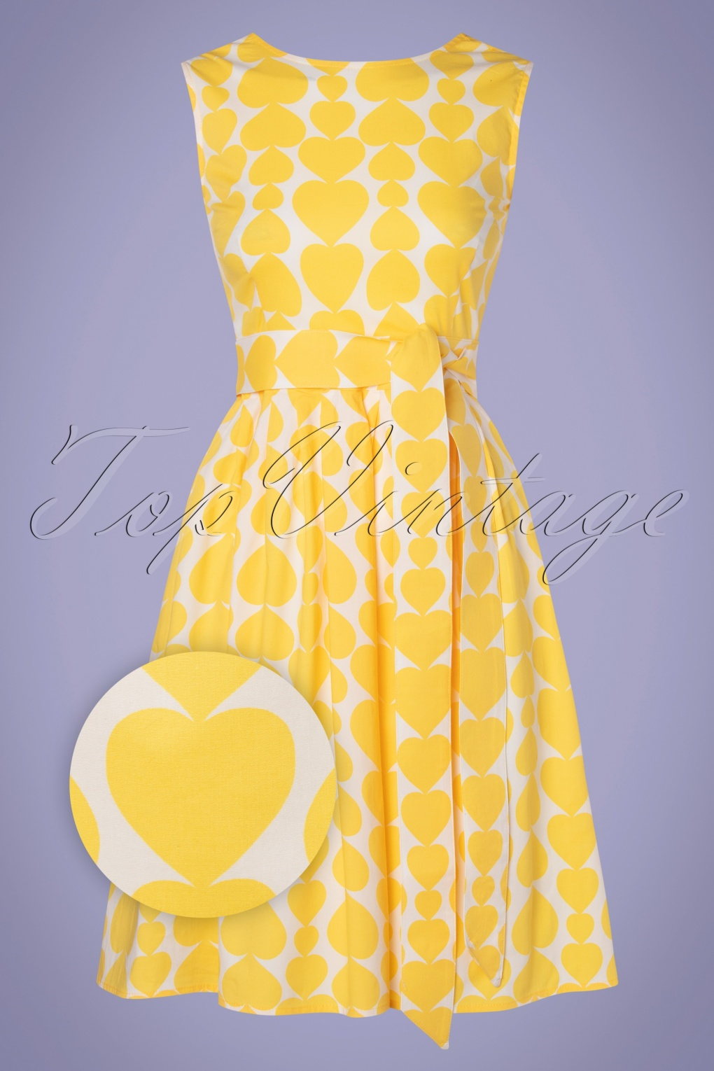 60s Dresses | 1960s Dresses Mod, Mini, Hippie 60s Non-Stop Dancing Dress in Heartbeat Yellow £87.81 AT vintagedancer.com