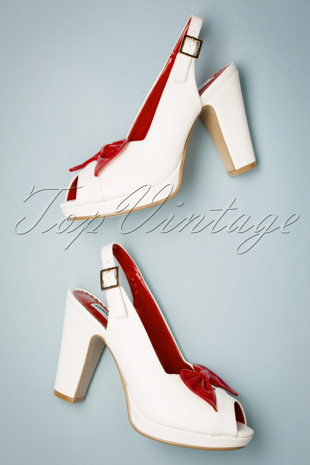 Pin Up Shoes- Heels, Pumps & Flats 50s Susan Peep Toe Pumps in White £49.53 AT vintagedancer.com