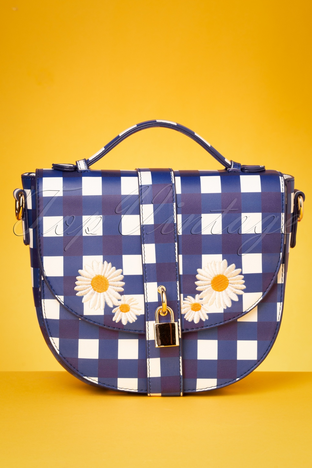 1960s Style Dresses, Clothing, Shoes UK 50s Lydia Gingham Bag in Blue £19.41 AT vintagedancer.com