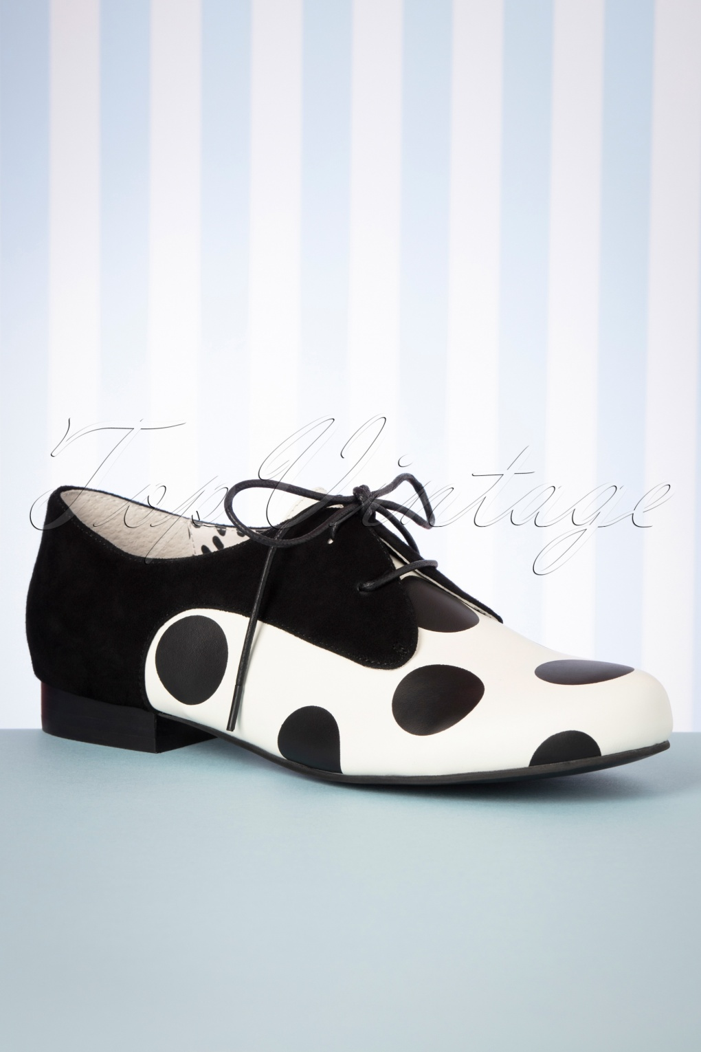 60s Dresses & 60s Style Dresses UK 60s Penny Polkadot Shoes in Black and White £134.30 AT vintagedancer.com