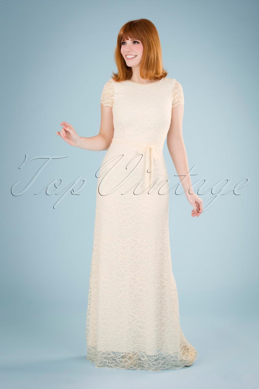 60s Wedding Dresses | 70s Wedding Dresses 70s Sally Dentelle Wedding Dress in Petal Pink £268.64 AT vintagedancer.com