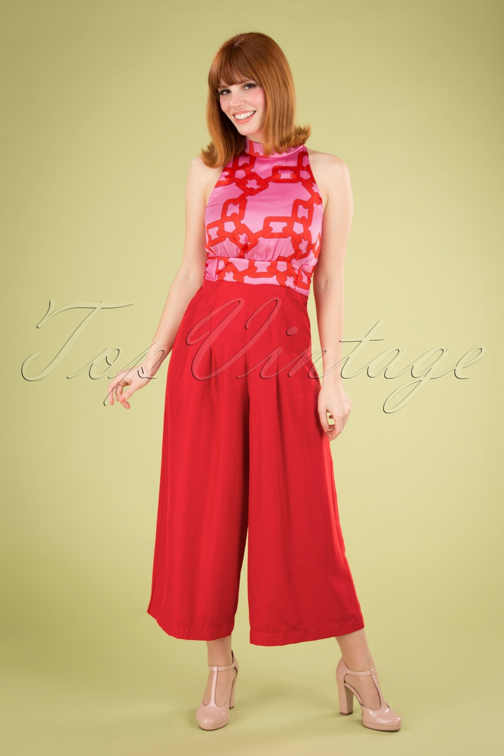 70s Jumpsuit | Disco Jumpsuits, Sequin Rompers 70s Divided Jumpsuit in Red and Pink £160.27 AT vintagedancer.com