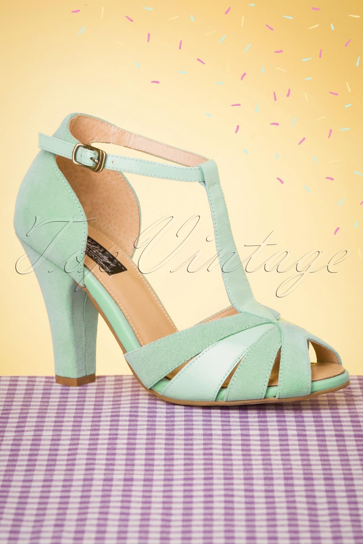 1950s Shoe Styles: Heels, Flats, Sandals, Saddle Shoes 50s June Luce Del Sole Peeptoe Pumps in Mint £107.43 AT vintagedancer.com