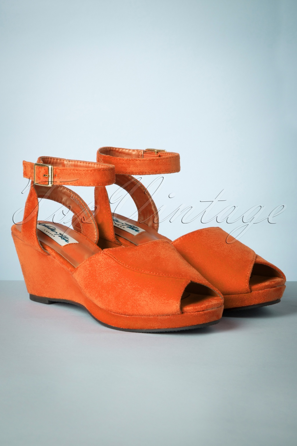 1960s Style Dresses, Clothing, Shoes UK 60s Simona Wedge Sandals in Orange £33.94 AT vintagedancer.com