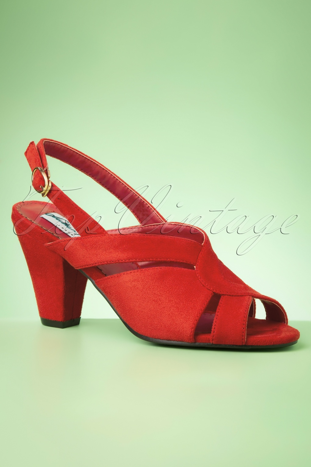 Rockabilly Shoes- Heels, Pumps, Boots, Flats 50s Maura Pumps in Red £44.74 AT vintagedancer.com