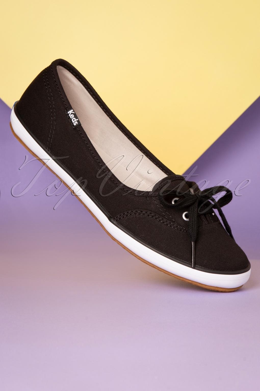 50s Teacup Twill Ballerina Sneakers in
