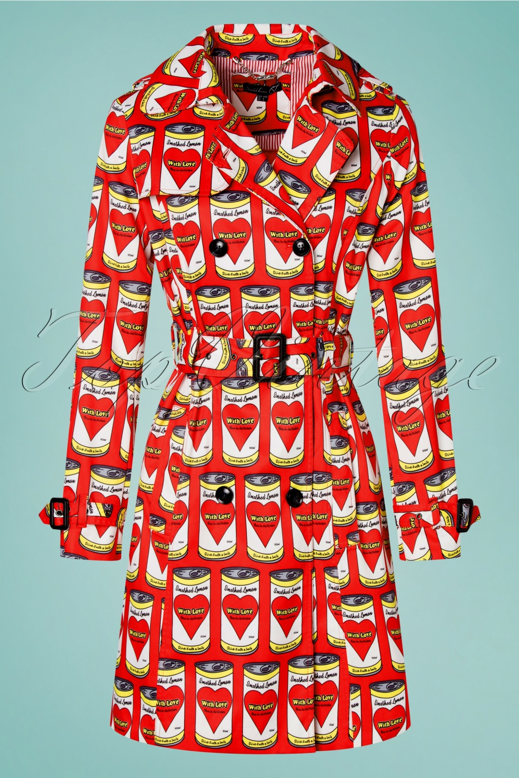 60s Dresses & 60s Style Dresses UK 60s Can With Love Trench Coat in Red £117.70 AT vintagedancer.com