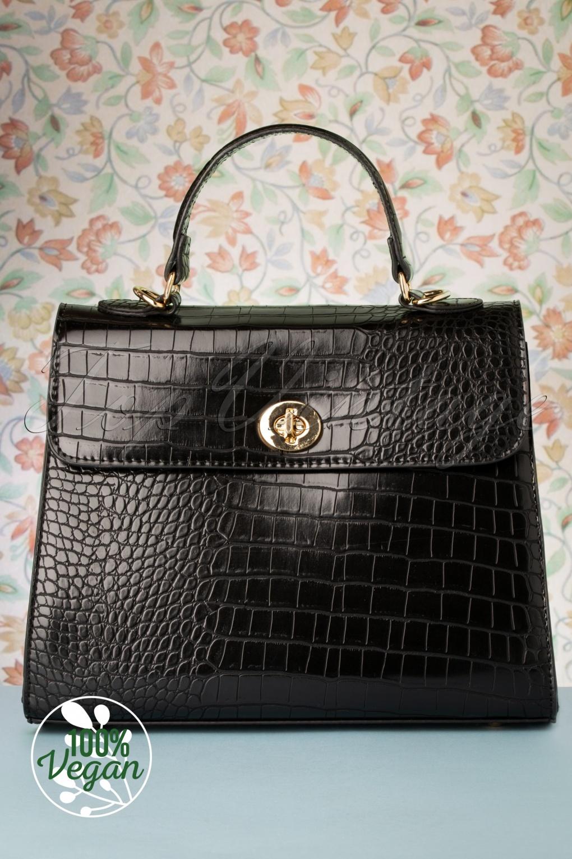 Vintage Handbags, Purses, Bags *New* 50s Versailles Handbag in Black £24.95 AT vintagedancer.com