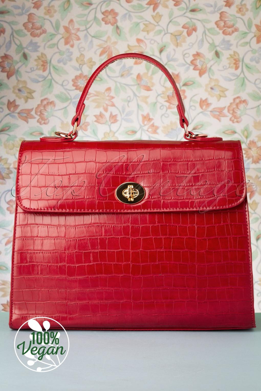 Vintage Handbags, Purses, Bags *New* 50s Versailles Handbag in Red £24.95 AT vintagedancer.com
