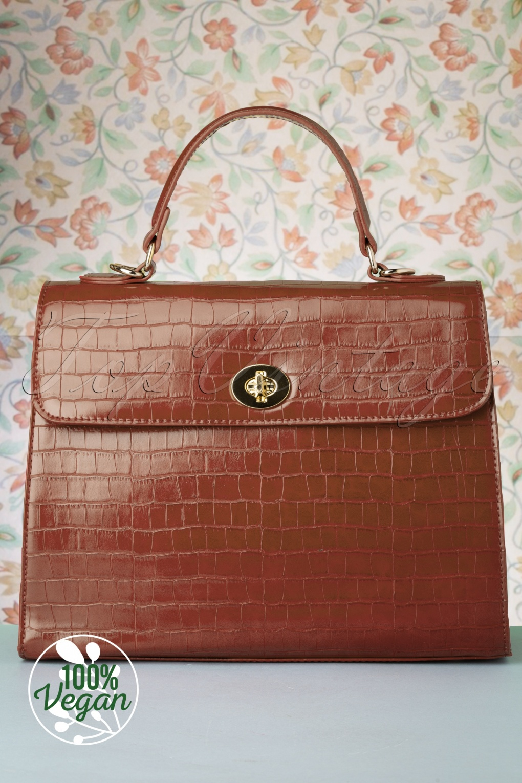 Vintage Handbags, Purses, Bags *New* 50s Versailles Handbag in Walnut £24.95 AT vintagedancer.com