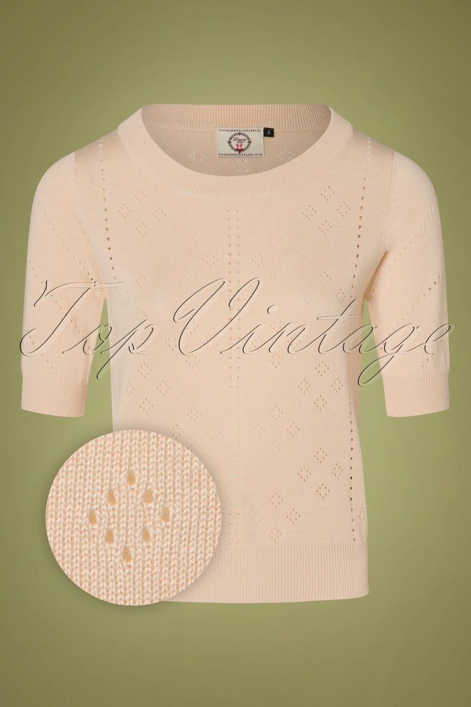 80s Tops, Shirts, T-shirts, Blouse 50s Dune Jumper in Ecru £34.44 AT vintagedancer.com