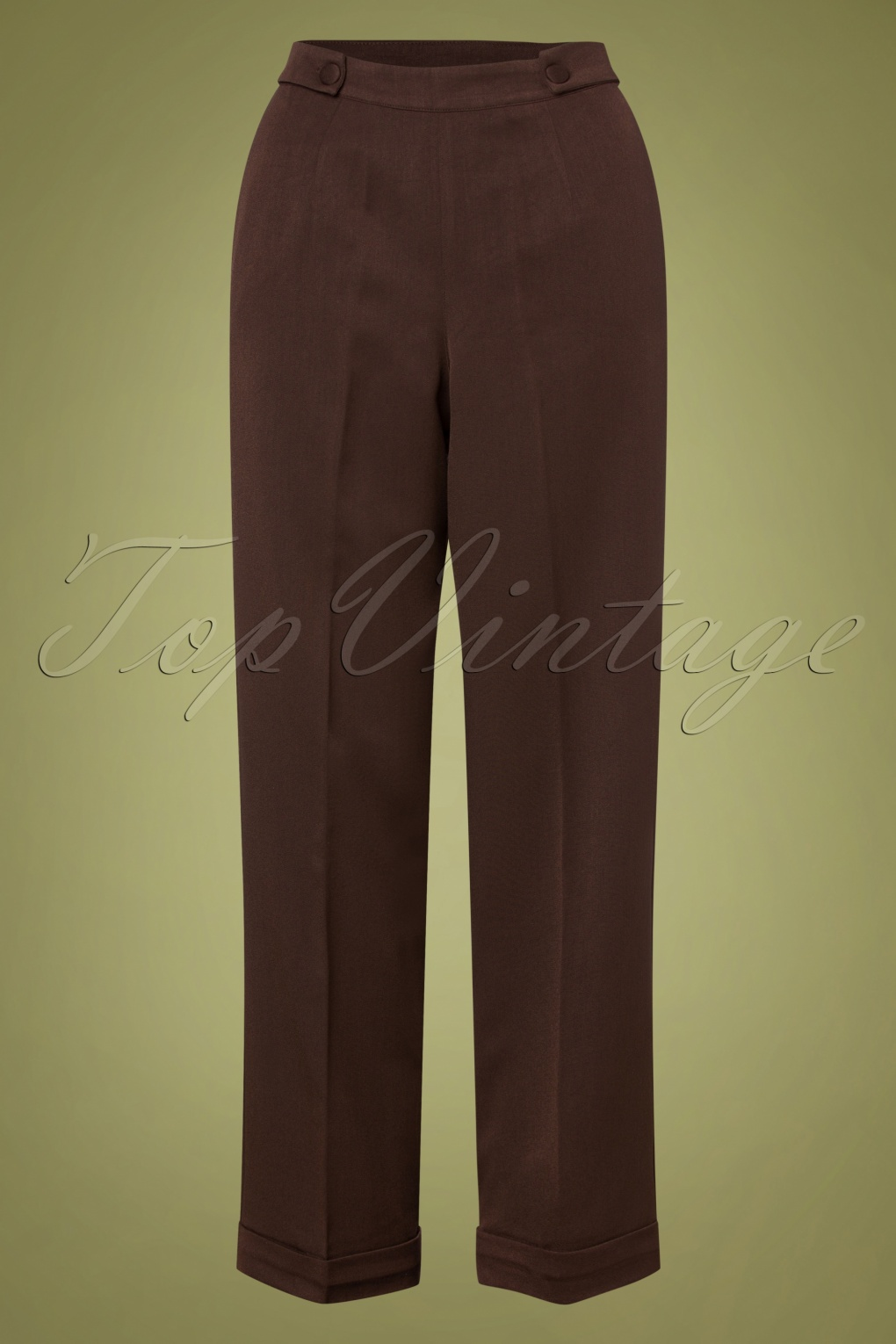 1940s Dresses and Clothing UK   40s Shoes UK 40s Party On Classy Trousers in Brown £36.39 AT vintagedancer.com