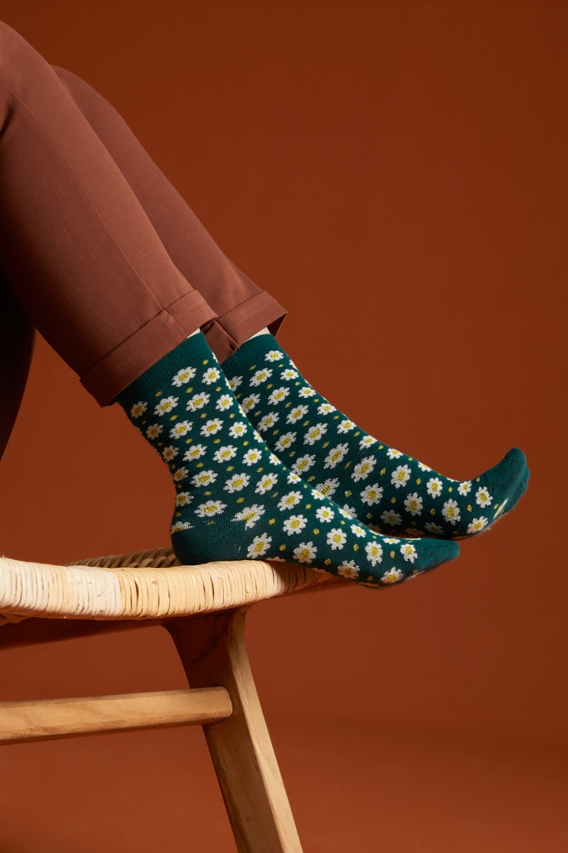 1960s Tights, Stockings, Panty Hose, Knee High Socks 60s Tate Socks 2-Pack in Dragonfly Green £13.48 AT vintagedancer.com