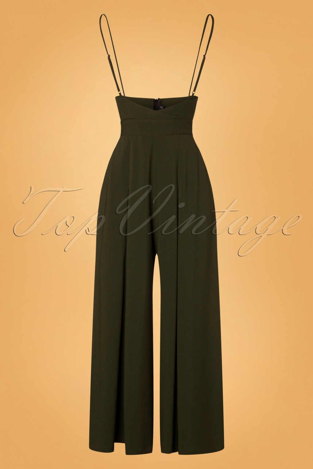 1940s Swing Pants & Sailor Trousers- Wide Leg, High Waist 40s Kourt Trousers in Olive £63.08 AT vintagedancer.com
