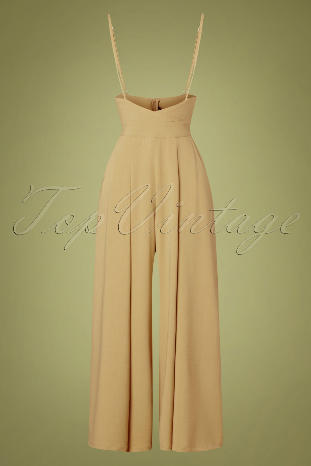 1940s Swing Pants & Sailor Trousers- Wide Leg, High Waist 40s Kourt Trousers in Beige £62.18 AT vintagedancer.com