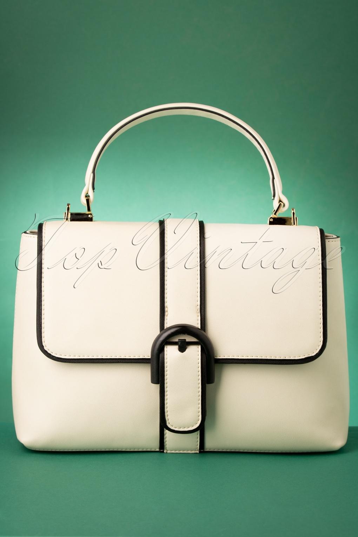 1960s Style Dresses, Clothing, Shoes UK 60s Far Out Handbag in Off White £47.94 AT vintagedancer.com