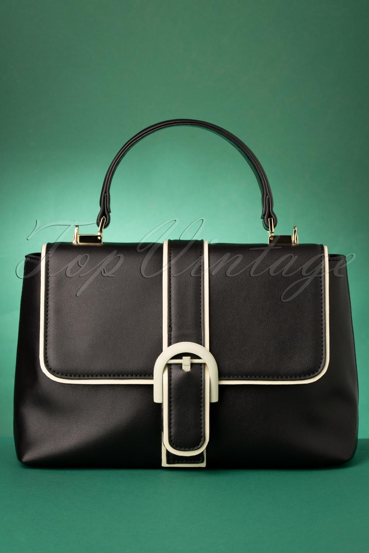 1960s Style Dresses, Clothing, Shoes UK 60s Far Out Handbag in Black £47.94 AT vintagedancer.com