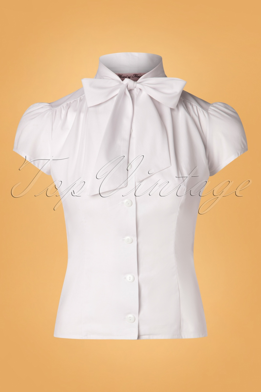 1930s Style Blouses, Shirts, Tops | Vintage Blouses 50s Estelle Blouse in White £71.07 AT vintagedancer.com