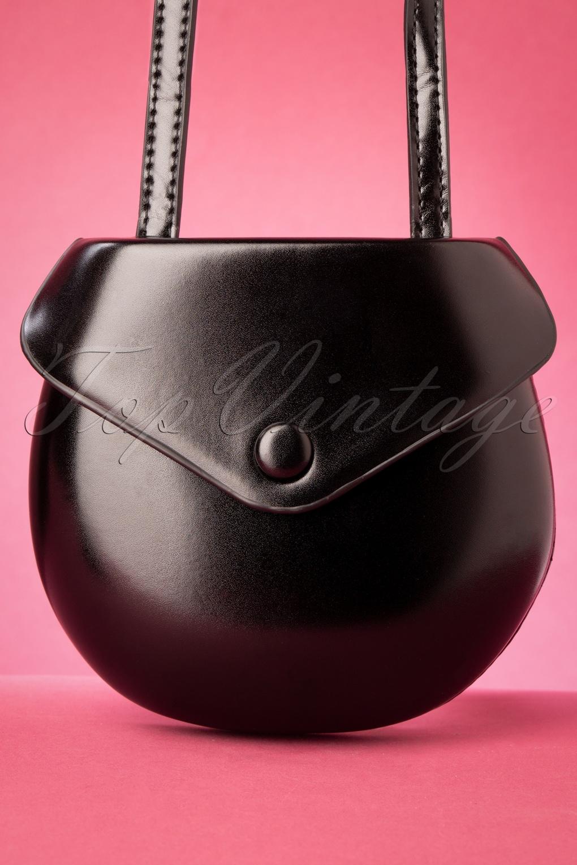 Vintage Handbags, Purses, Bags *New* 60s Tallulah Mini Shoulder Bag in Black £24.95 AT vintagedancer.com