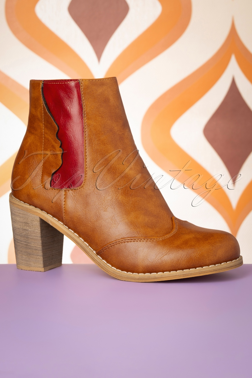 Vintage Boots, Retro Boots 70s Keenak Face Boots in Cognac £60.57 AT vintagedancer.com