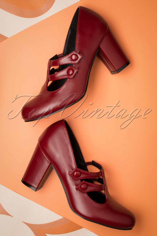 Edwardian Shoes & Boots | Titanic Shoes 60s Isabella Pumps in Red £51.85 AT vintagedancer.com