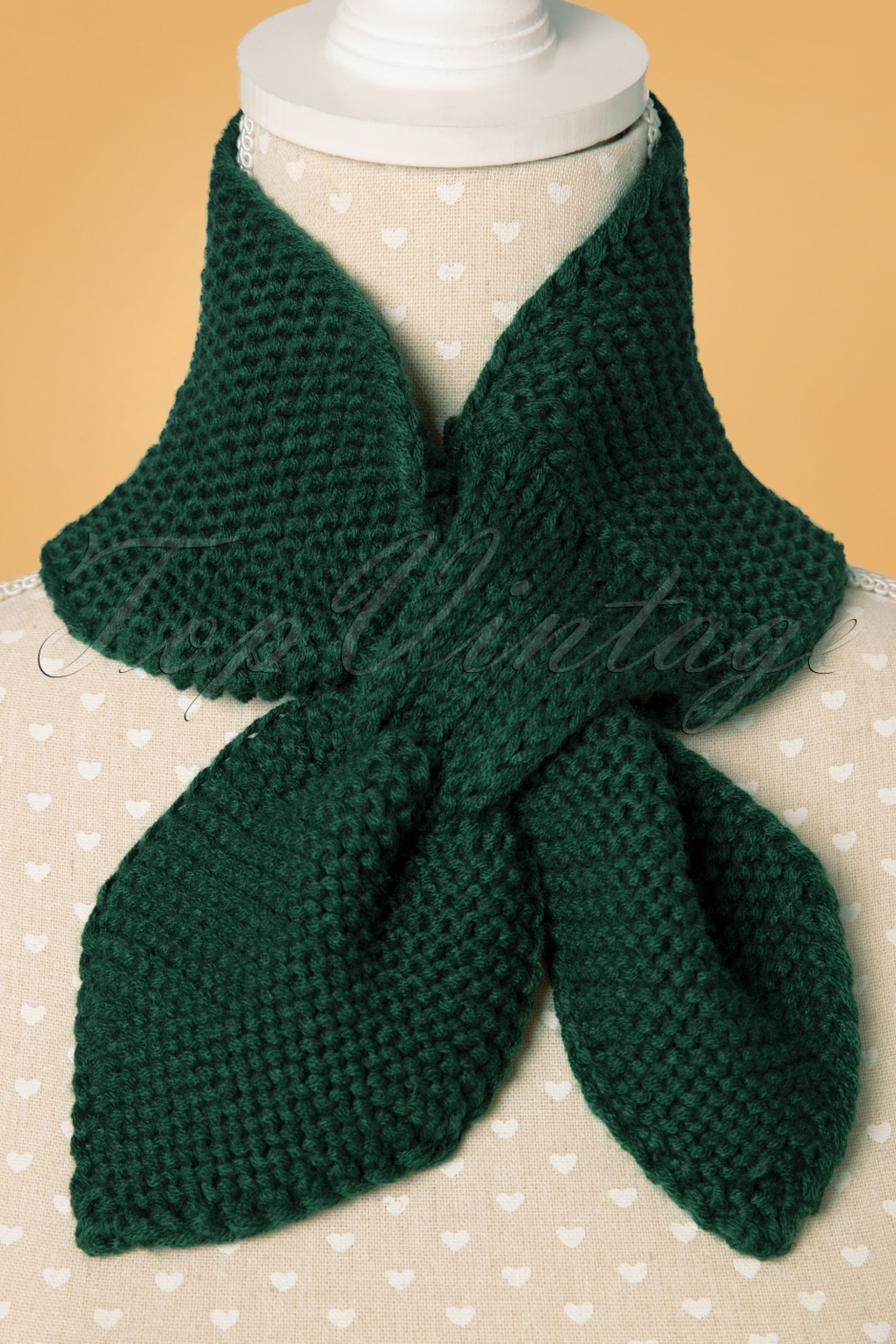 50s Hair Bandanna, Headband, Scarf, Flowers | 1950s Wigs 50s Fru Fru Knitted Scarf in Forest Green £12.64 AT vintagedancer.com