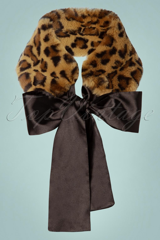 50s Hair Bandanna, Headband, Scarf, Flowers | 1950s Wigs 50s Natasha Faux Fur Scarf in Leopard £12.63 AT vintagedancer.com