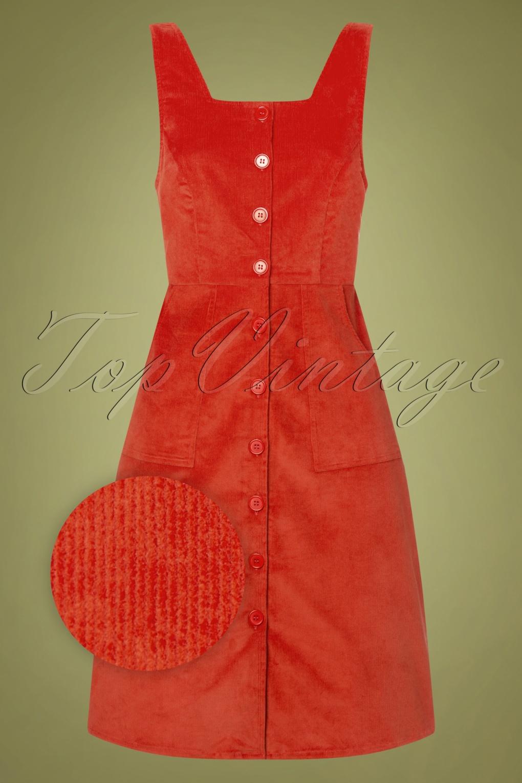 1960s Dresses – A Rainbow of 50 Dresses (Pictures) 60s Belinda Pinny Dress in Burnt Ochre £71.53 AT vintagedancer.com