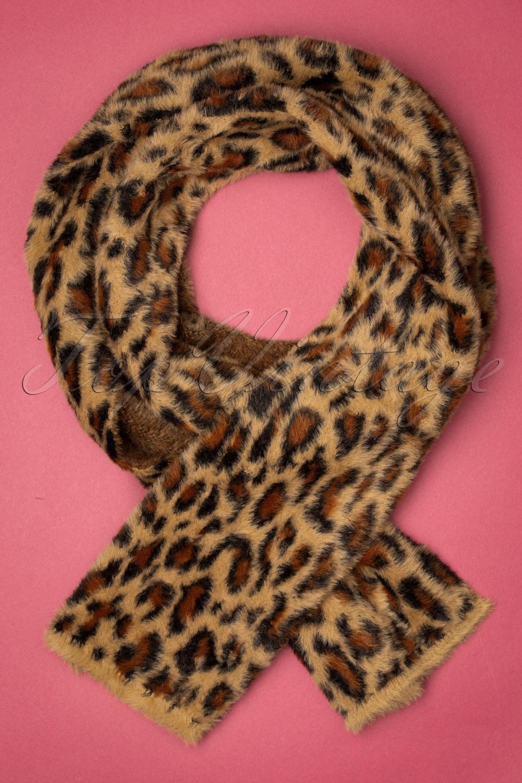 50s Hair Bandanna, Headband, Scarf, Flowers | 1950s Wigs 50s Felicia Scarf in Leopard £31.66 AT vintagedancer.com