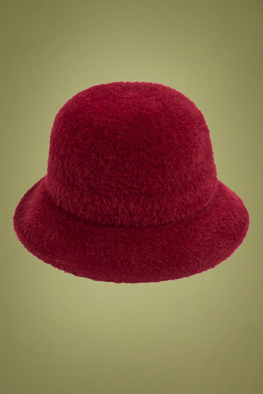 1950s Hats: Pillbox, Fascinator, Wedding, Sun Hats 50s Elliot Bucket Hat in Red £31.66 AT vintagedancer.com