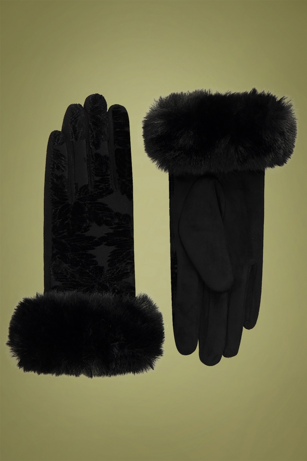 Vintage Style Gloves- Long, Wrist, Evening, Day, Leather, Lace 50s Bailey Gloves in Black £18.06 AT vintagedancer.com