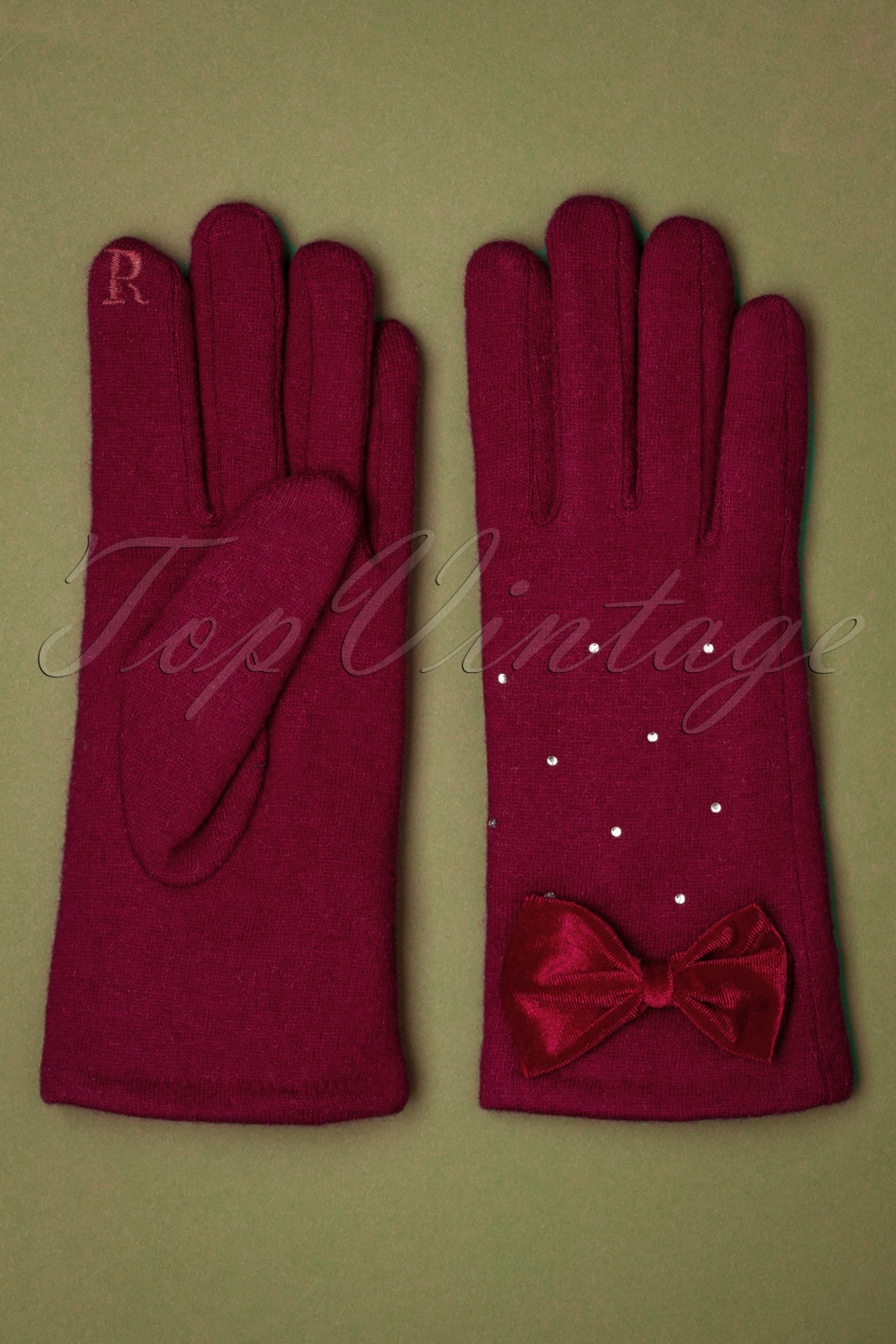 Vintage Style Gloves- Long, Wrist, Evening, Day, Leather, Lace 50s Myla Sparkly Wool Gloves in Red £22.59 AT vintagedancer.com
