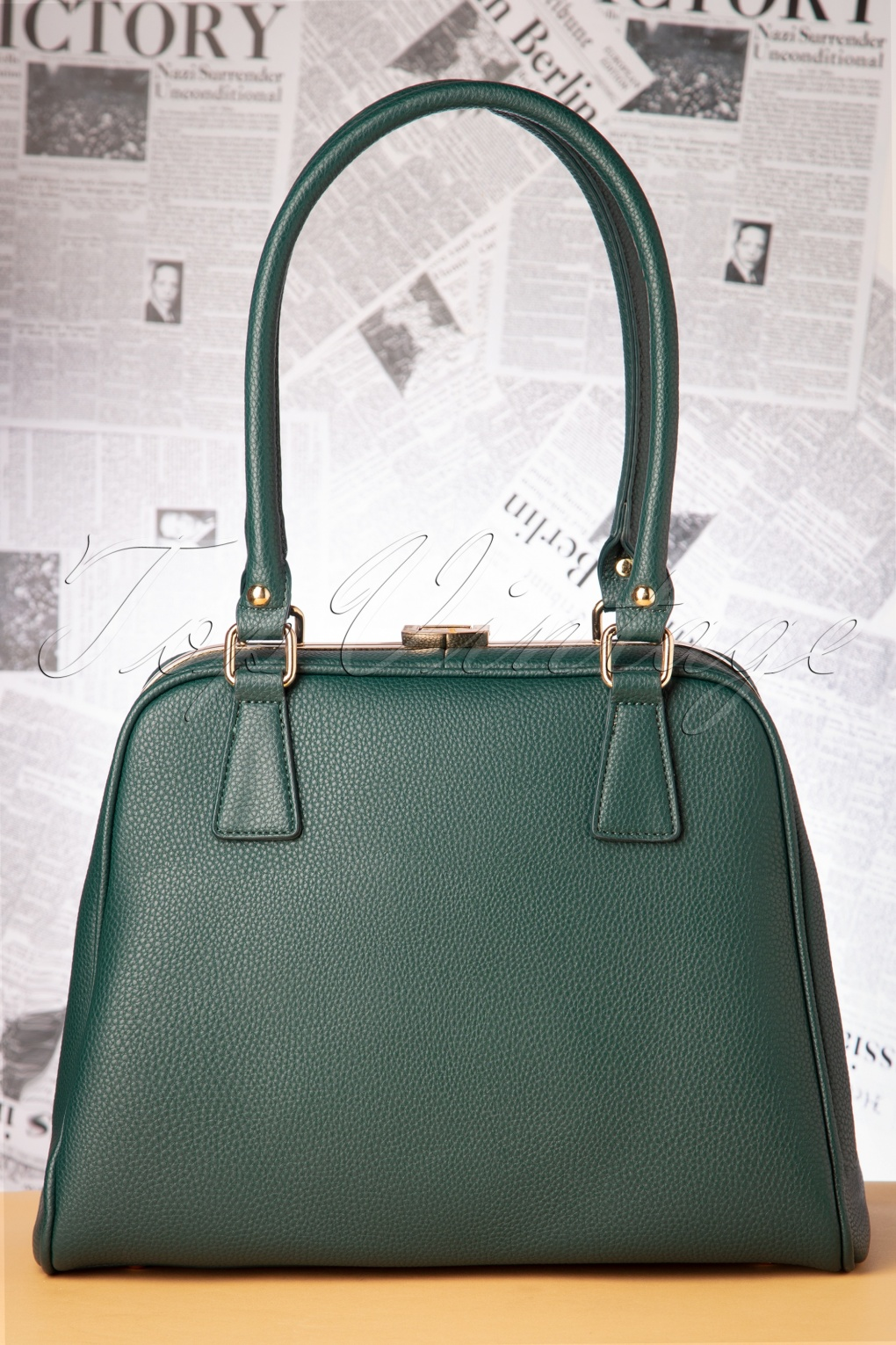 1940s Dresses and Clothing UK | 40s Shoes UK 40s Peggy Means Business Handbag in Teal £68.33 AT vintagedancer.com