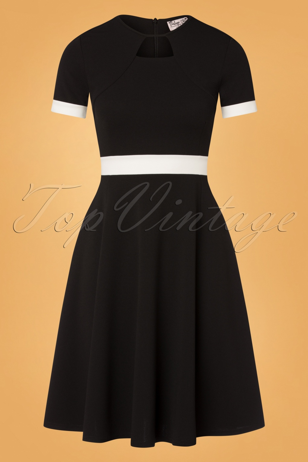 Vintage Style Dresses | Vintage Inspired Dresses 60s Verona Swing Dress in Black and White £57.73 AT vintagedancer.com