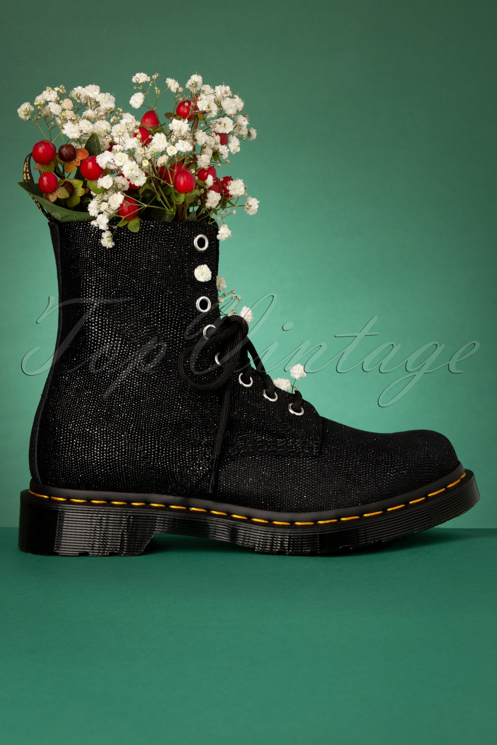 1460 Glitter Ray Boots in Black