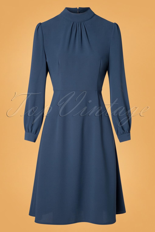 1950s Party Dresses & Prom Dresses for Sale 50s Evening Ella Dress in Blue £47.92 AT vintagedancer.com