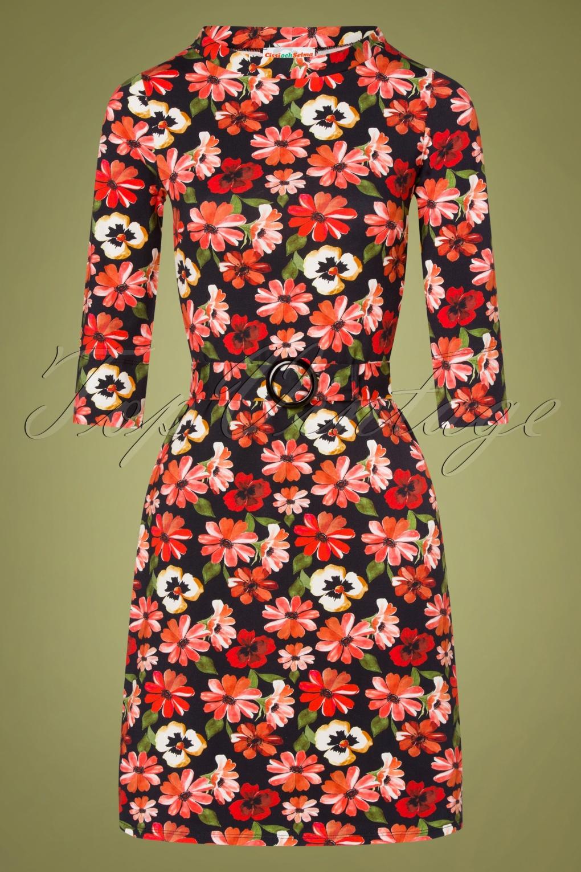 60s Dresses | 1960s Dresses Mod, Mini, Hippie 60s Agneta Essa A-line Dress in Black £100.68 AT vintagedancer.com