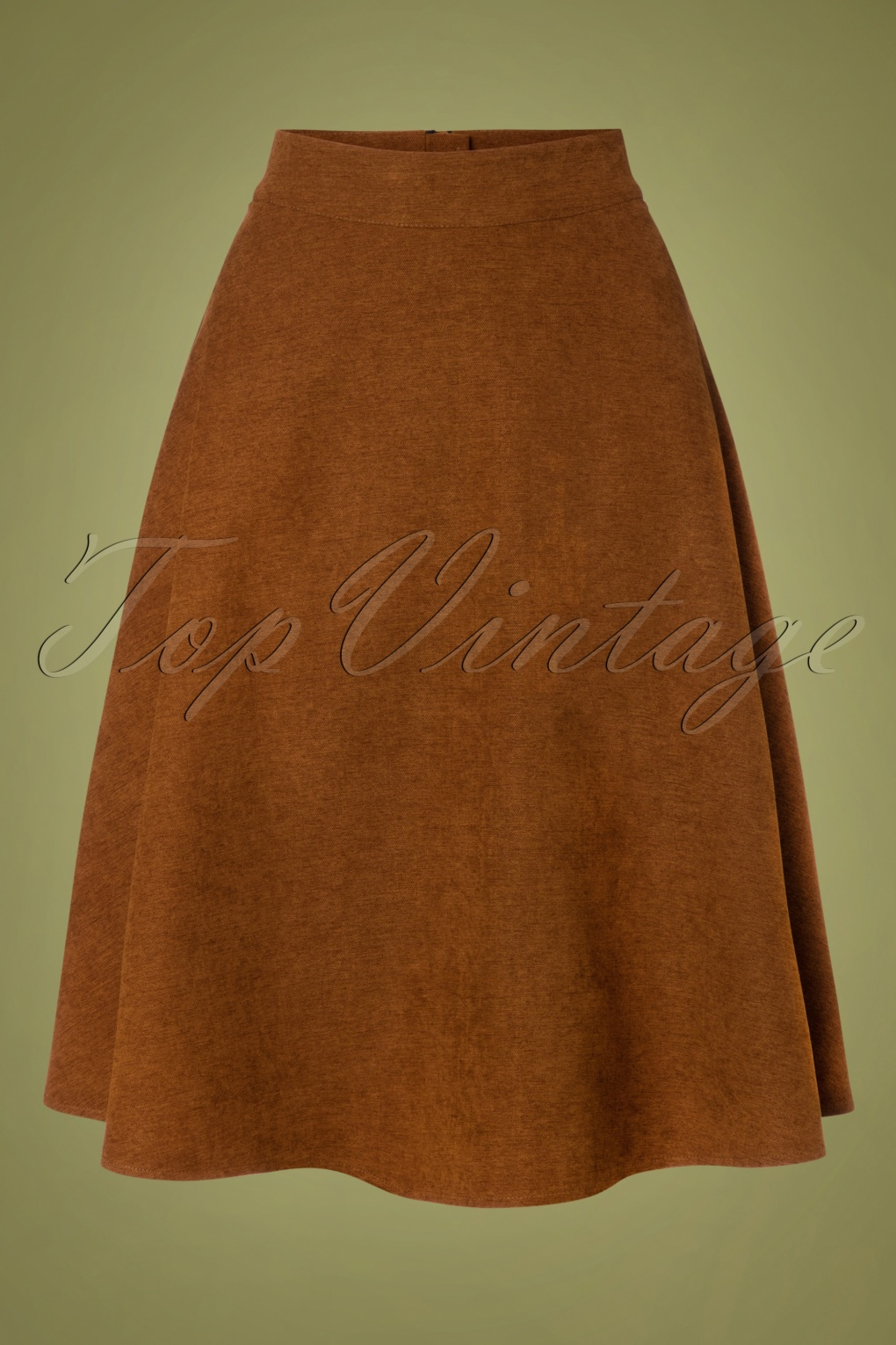 1940s Teenage Fashion: Girls 40s Sophisticated Lady Swing Skirt in Brown £36.65 AT vintagedancer.com