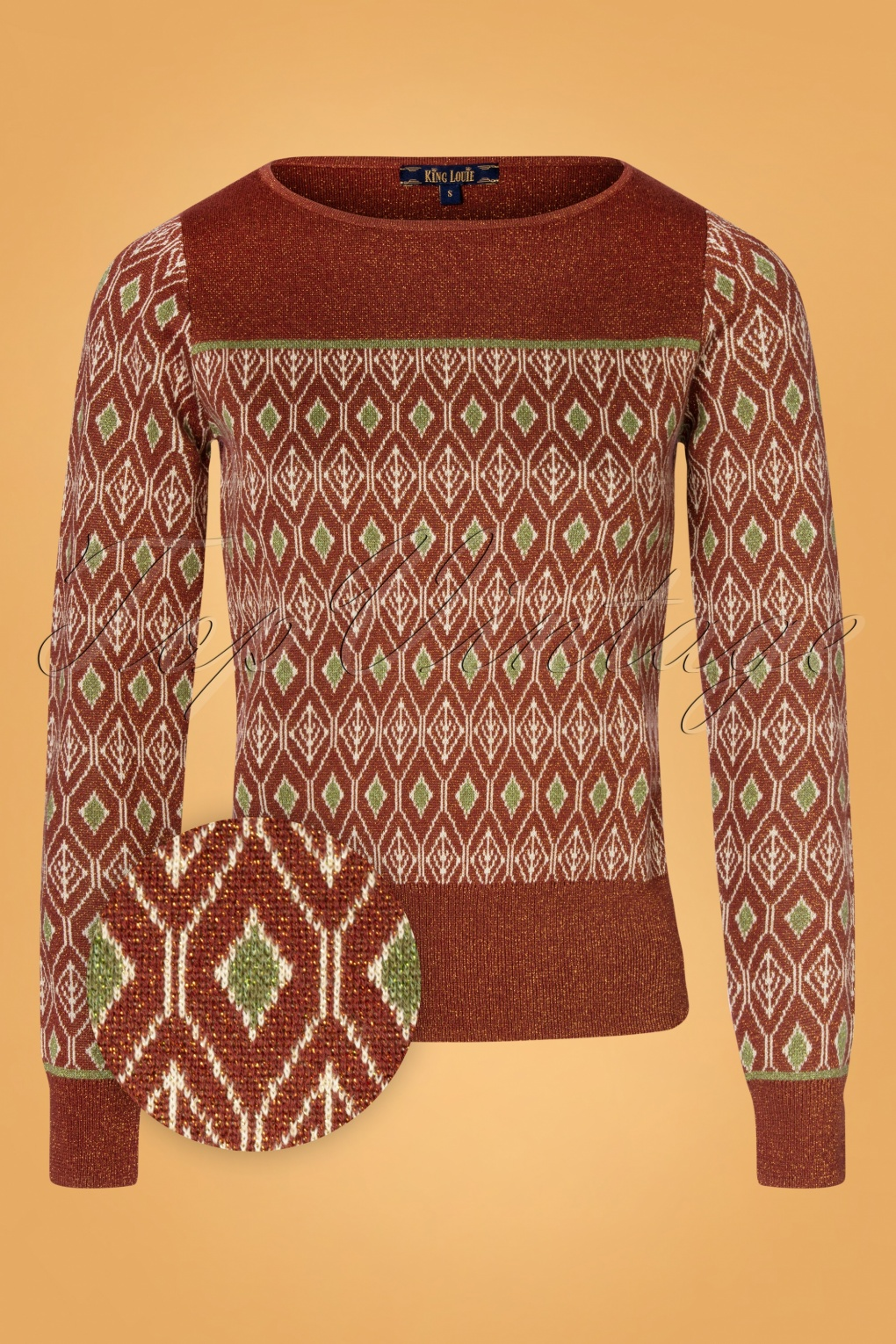 Vintage Sweaters, Retro Sweaters & Cardigan 60s Bella Taboo Knit Top in Henna Red £68.15 AT vintagedancer.com