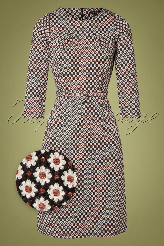 60s Dresses | 1960s Dresses Mod, Mini, Hippie 60s Polly Tate Dress in Black £92.14 AT vintagedancer.com