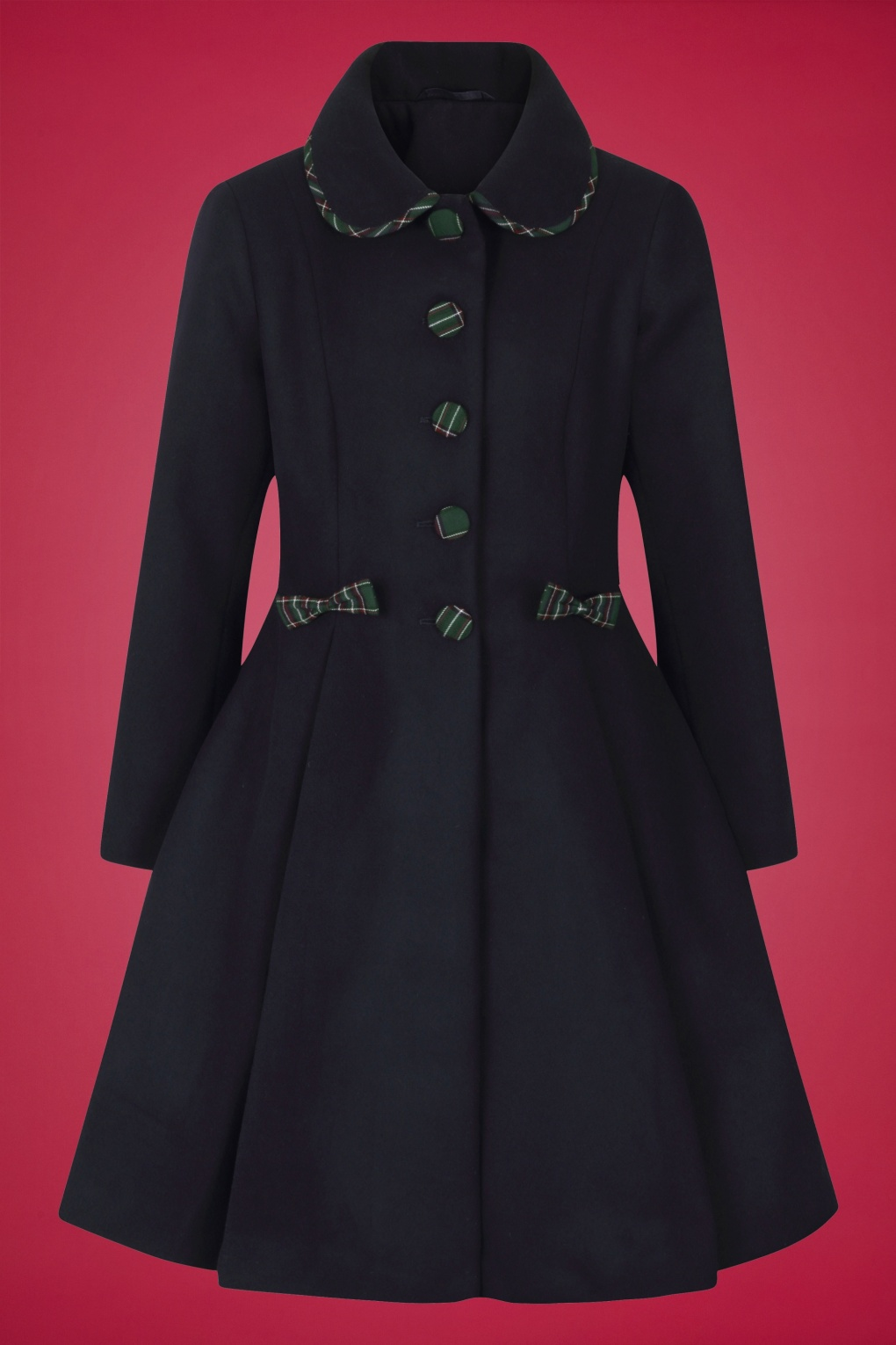 1950s Jackets, Coats, Bolero | Swing, Pin Up, Rockabilly 50s Tiddlywinks Coat in Navy £104.51 AT vintagedancer.com