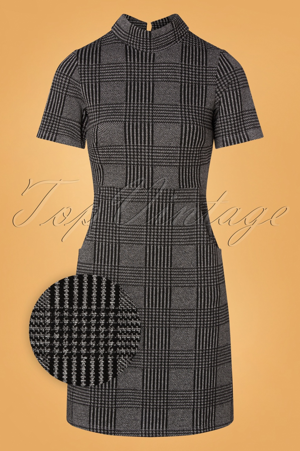 Vintage Style Dresses | Vintage Inspired Dresses 60s Baby I Got It A-line Dress in Black and White £94.02 AT vintagedancer.com