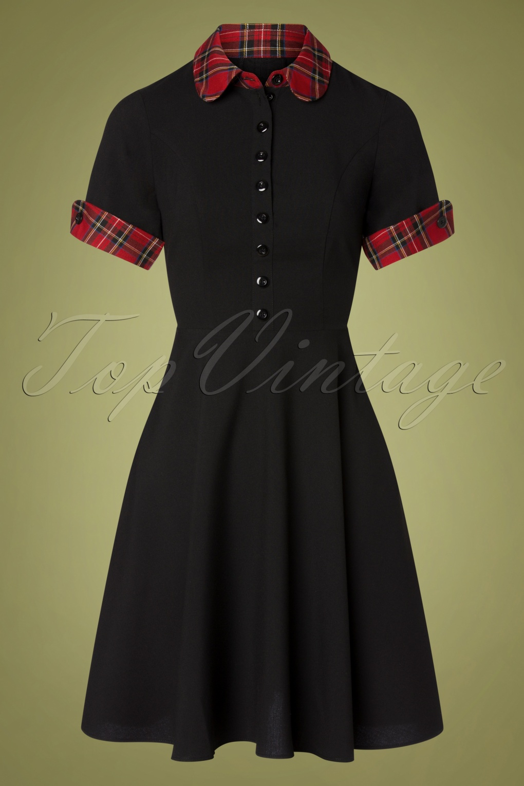 Vintage Shirtwaist Dress History 50s Tiddlywinks Dress in Black £64.64 AT vintagedancer.com
